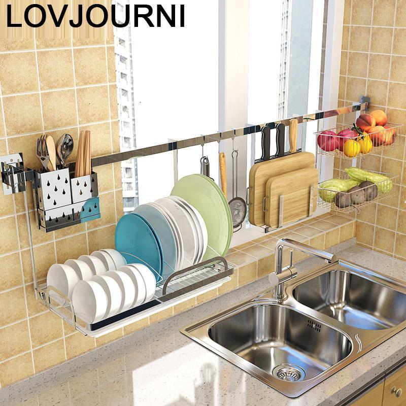 Rangement organisation egouttoir vaisselle organisador Cocina inox Cozinha accessoires Cuisine Rangement Cuisine support étagères