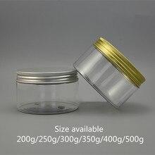 200g 250g 300g 350g 400g 500g vazio frasco plástico recipiente cosmético corpo creme loção armazenamento doces chá spice açúcar garrafa clara