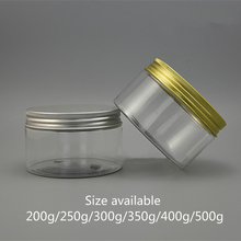 200g 250g 300g 350g 400g 500g Empty Plastic Jar Cosmetic Container Body Cream Lotion Storage Candy Tea Spice Sugar Clear Bottle
