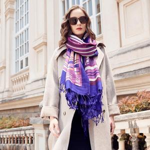 Image 3 - Wool Women Scarves Stoles Elegant Carf Warm Shawl Bandana Scarf Luxury Brand Muslim Hijab Beach Blanket Face Shield Foulard