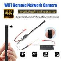 Full HD 4K DIY Portable WiFi IP Mini Camera P2P Wireless Mini Camcorder Video Audio Recorder Support Remote View TF Card Battery