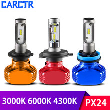 Auto Led Headlamps Car Headlights 9004/5/6/7 H11 H4 H1 H3 H7 Led Lamp PX24 5202 3000K 4300K 6000K 36W IP68 Modefied Car Lights(China)