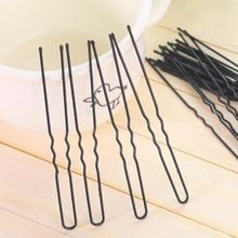 50pcs/set 6 cm Hair Waved U-shaped Bobby Pin Barrette Women Lady Girl Updo Tool Salon Grip Clip Hairpins Black New Drop Ship