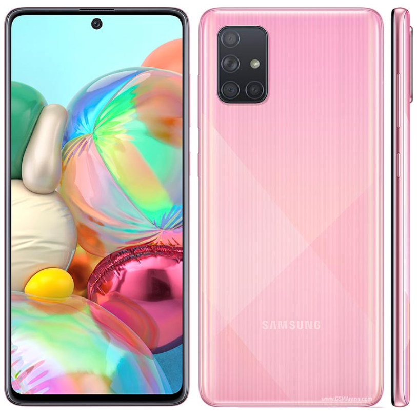 """Brand New Samsung Galaxy A71 A715F/DS LTE Mobile Phone 8GB RAM 128GB ROM Octa Core 6.7""""1080x2400P 4500mAh NFC Dual SIM Android10"""