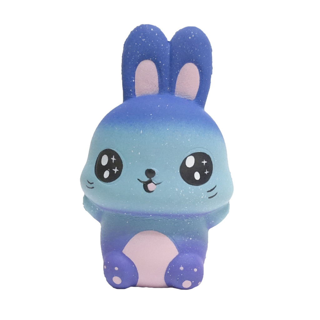 Simulation Cartoon Toys Starry Rabbit Slow Rising Collection Squeeze Stress Reliever Toy  Decor Animal Noverty Toys #B