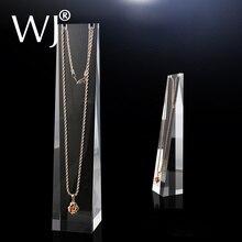 """8 """"Clear Frosted Wit Acryl Plexiglas Hanger Ketting Display Stand Chain Link Sieraden Houder Organizer Rack Tonen Versieren"""