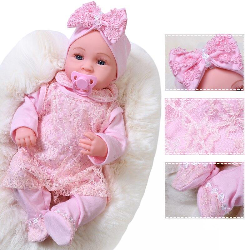 45cm chorando reborn bebê boneca interativa bebe bonecas princesa vestido de silicone macio à procura da vida real recém-nascidos boneca crianças presente