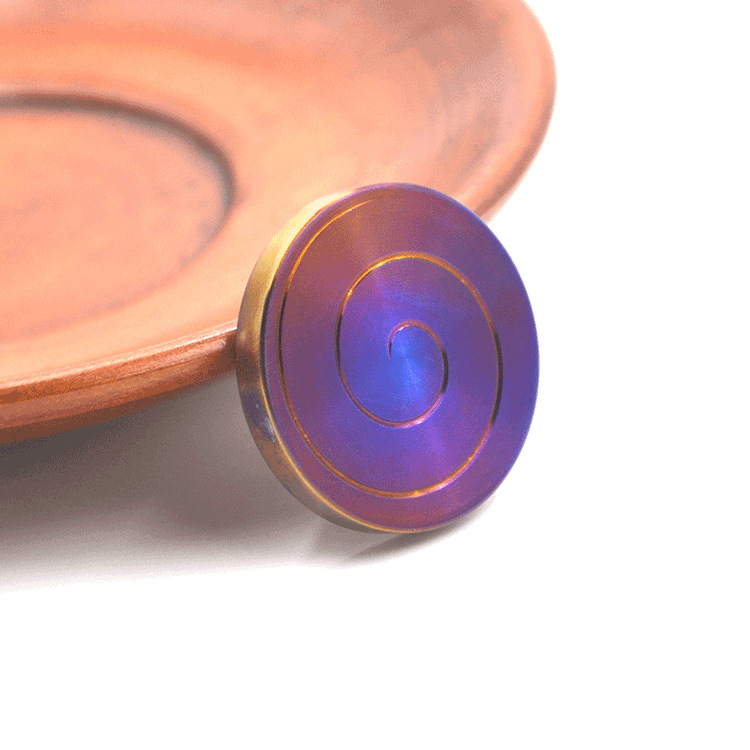 New Fidget Spinner Roll Sensorial Ring Spinr Toys Table Pad Toy Wheel Ring Titanium Spinner Fidget Helical Line Bone Spinner Fid