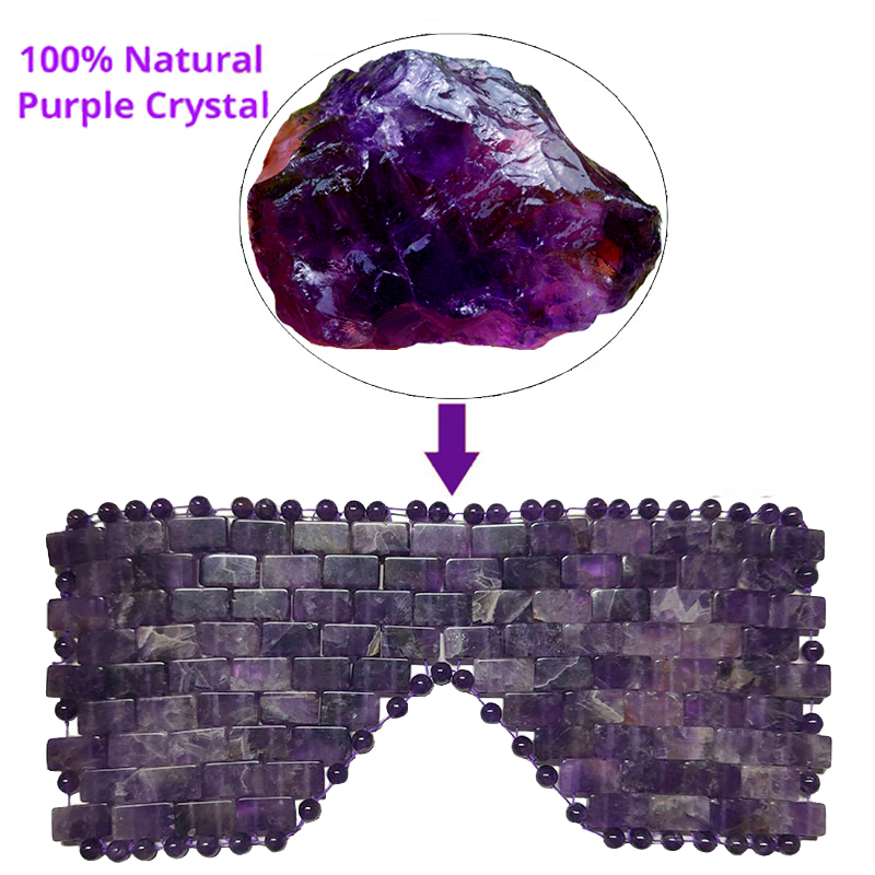 Amethyst Sleeping Eye Mask Natural Jade Eyes Cooling Mask Cold Therapy Massage Masks Facial Massager Stone Blindcover For Face