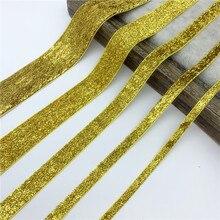 6mm-38mm ouro glitter velvet fita para presente artesanal buquê embrulho suprimentos casa decorações de festa de natal fita