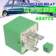 12V 35A 5 pines de refrigeración del ventilador del radiador de verde 6547TX para Peugeot 206, 207, 306, 307, 406, 407, 807