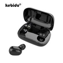 TWS Bluetooth 5.0 kulaklık ile şarj kutusu kablosuz kulaklık 9D Stereo spor su geçirmez kulaklıklar kulaklıklar mikrofon ile