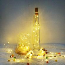 led String Wine Bottle with Cork  Bottle Lights Battery Cork for Party Wedding Christmas Halloween 10Pack  Included Batteries