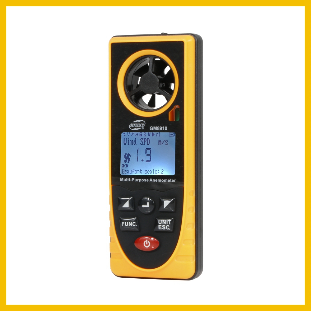 Portable RZ GM816 Wind Speed Meter Used as Anemometer with LCD Display Useful for Windsurfing 41