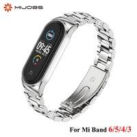 Per cinturino Mi Band 6 per cinturino Mi Band 5 bracciale in metallo inossidabile per Xiaomi Mi Band 4 3 Miband 6 Correa Xiomi Bend braccialetti