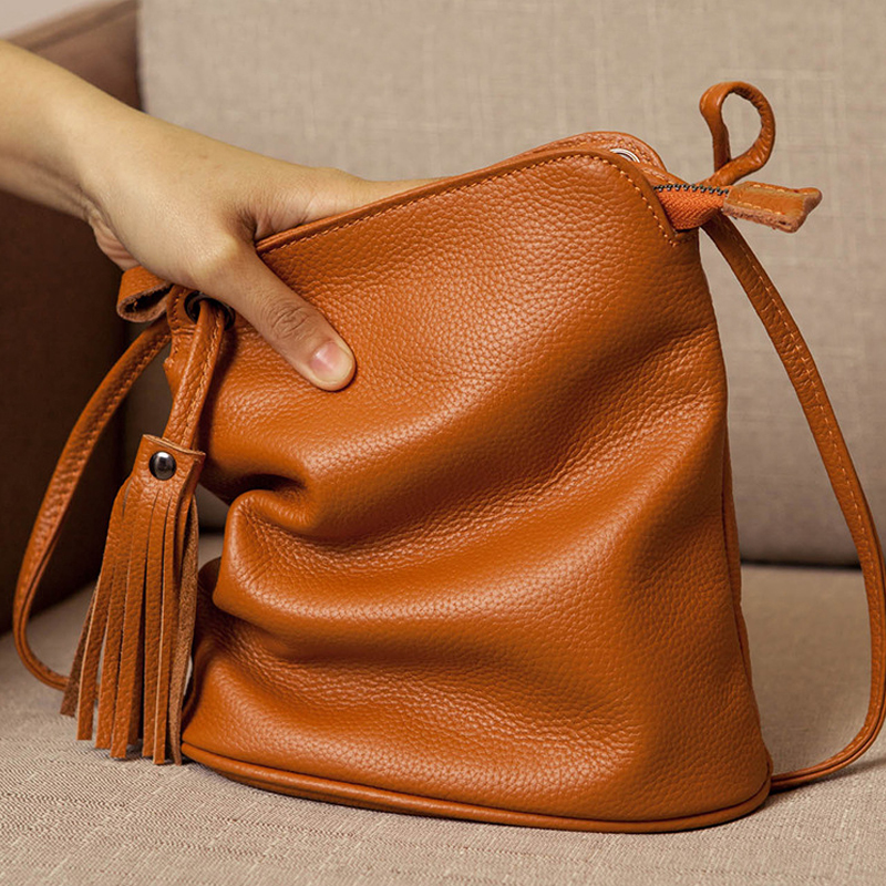 New Cross Body Cell Phone Purses Vintage Bag Women Small Shoulder Bag Genuine Leather Softness Mini Bag for Woman Messenger Bags