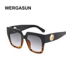 WERGASUN Fashion square Sunglasses Women Luxury Brand Design