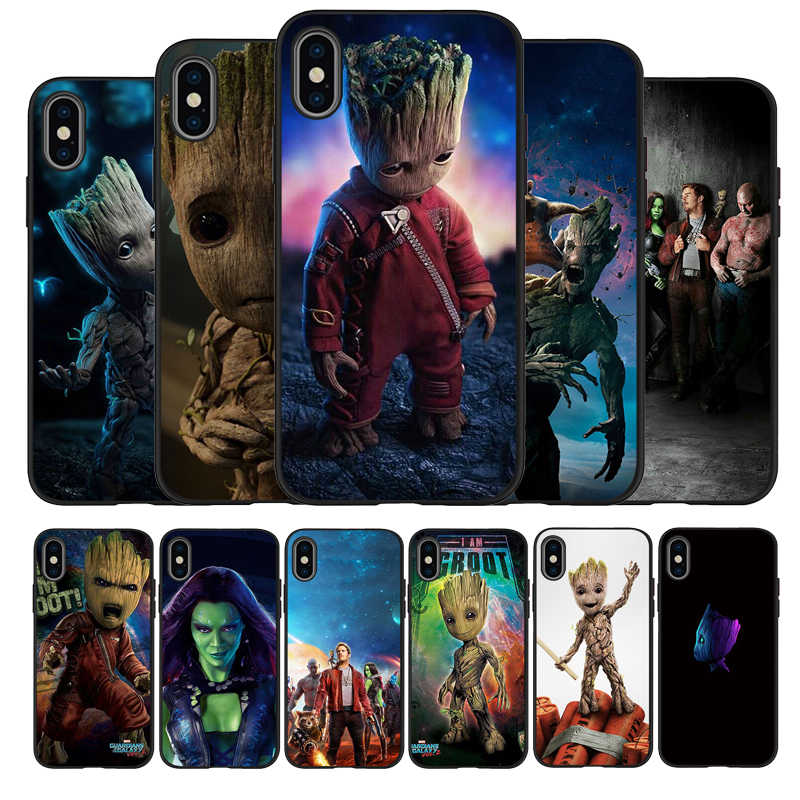 Guardians of the for Galaxy Marvel Avengers Endgame Black Soft Phone Case For iPhone 11 Pro Max X XS MAX 5 6 7 8 Plus