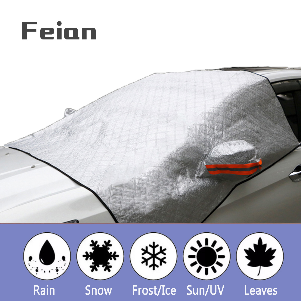 Universal รถหิมะครึ่งฝาครอบกระจกด้านหน้าป้องกันหิมะป้องกันไอซิ่งฉนวนรถเสื้อผ้า Hatchback ซีดาน SUV