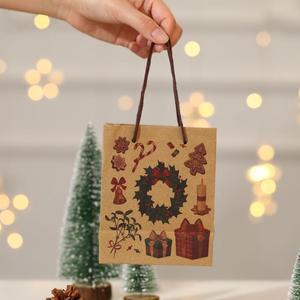 Christmas Gift Bag Small Santa Claus snowman Tote Bag Gift Bag Exquisite Kraft Paper Children Gift Bag New Arrival