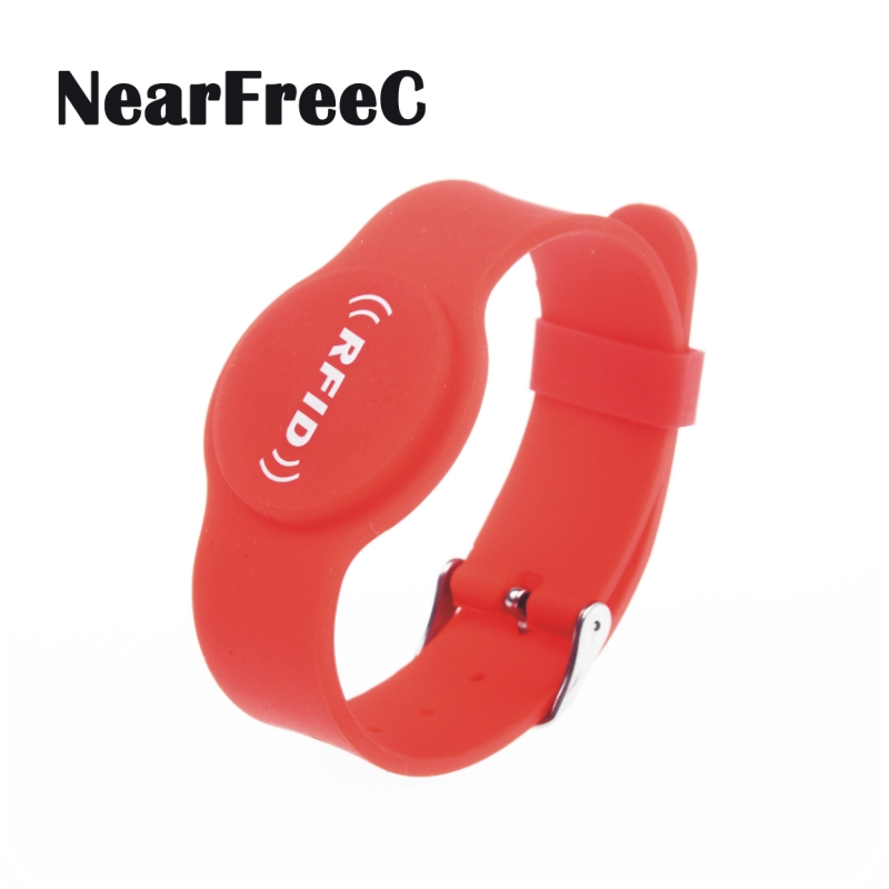 Adjustable RFID Silicone Wristband NFC Bracelet for Access control Hotel Door Lock Key