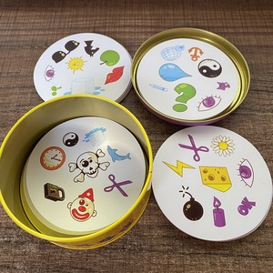 dobble card game table Board Game For Dobbles Kids Spot Cards It Go Camping Metal Tin Box toys