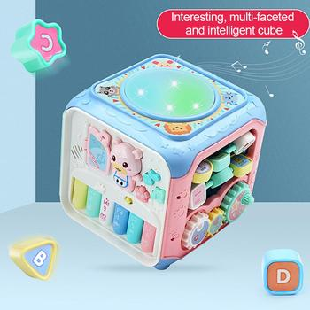 Early Childhood Teaching Hand Drum Activity Cube Toys Educational Bead Play Center For Toddlers Boys Girls Toys For Children