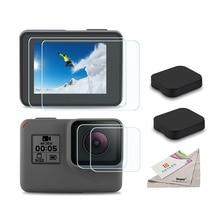 Закаленное стекло Защитная пленка для телефона Защитная для Go Pro Gopro Hero 5 6 7 Hero5 Hero6 Hero7 крышка объектива камеры защитная пленка набор