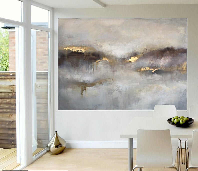 Large Canvas Wall Art Large Oil Painting Extra Large Painting Gold