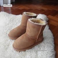 W 2019 r. Najnowsze dziecięce buty śnieżne z owczej skóry i futra  modne buty zimowe dla dzieci z czystej wełny  7 kolorów  za darmo w Buty od Matka i dzieci na