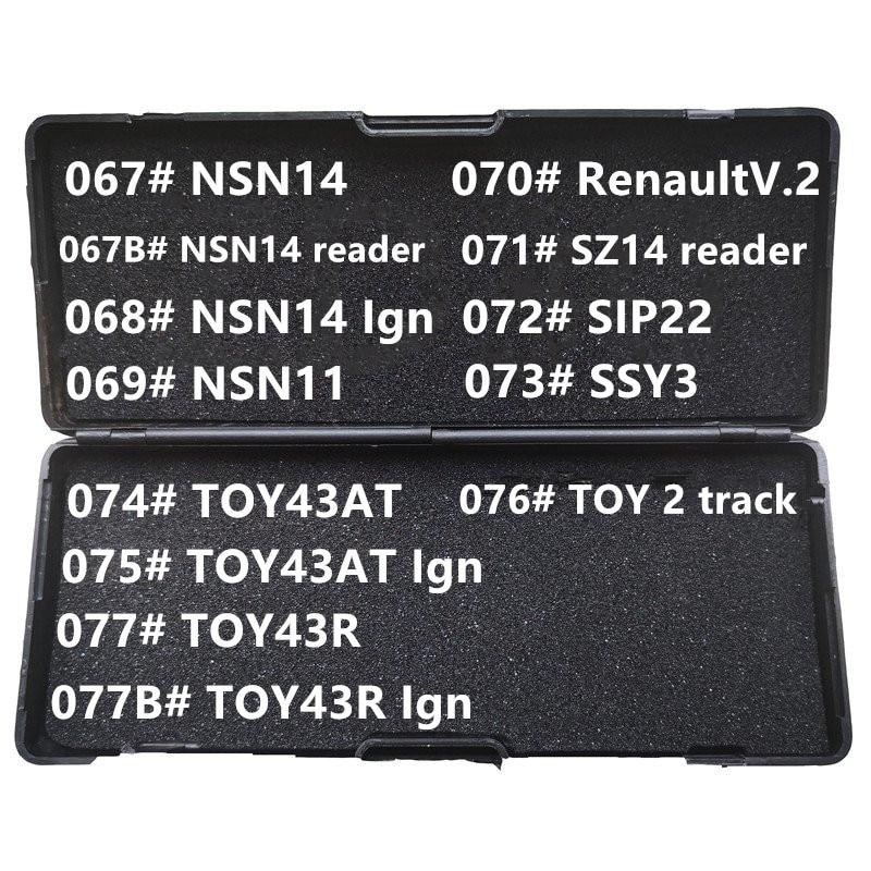 Без Черной коробки 067-077B # NSN14 NSN11 SZ14 SIP22 SSY3 TOY43AT TOY43R для Renault V.2 reader Ign LiShi 2 в 1 Слесарные Инструменты