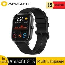 Wersja globalna amazfit GTS smart watch 5ATM wodoodporna 14 dni pracy na baterii śledzenie tętna powiadomienia o połączeniach i wiadomościach