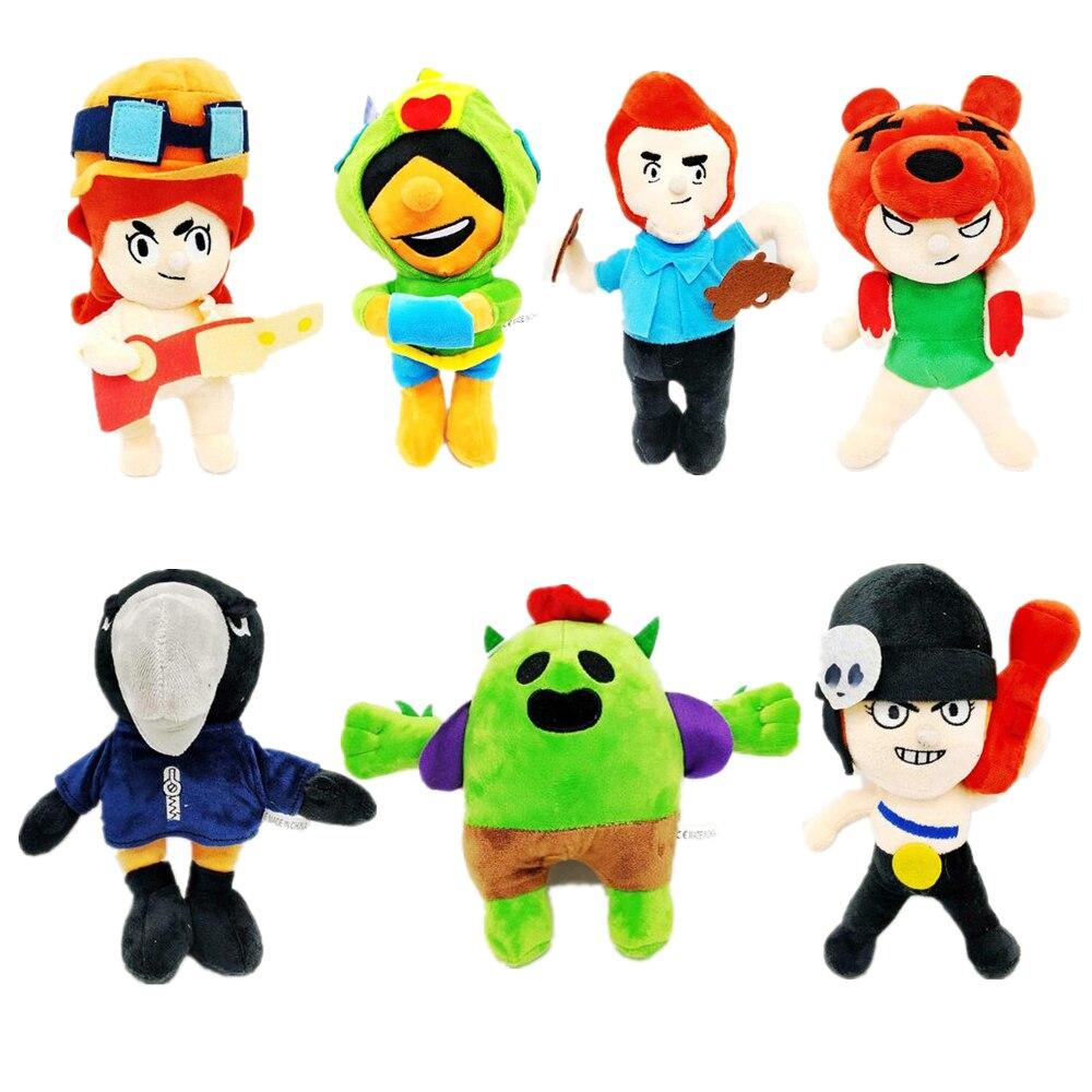 Brawl Stars Game Cartoon Star Hero Figure Anime Model Spike Shelly Leon PRIMO MORTIS Doll  Cute Plush Toy Doll Kid Birthday Gift