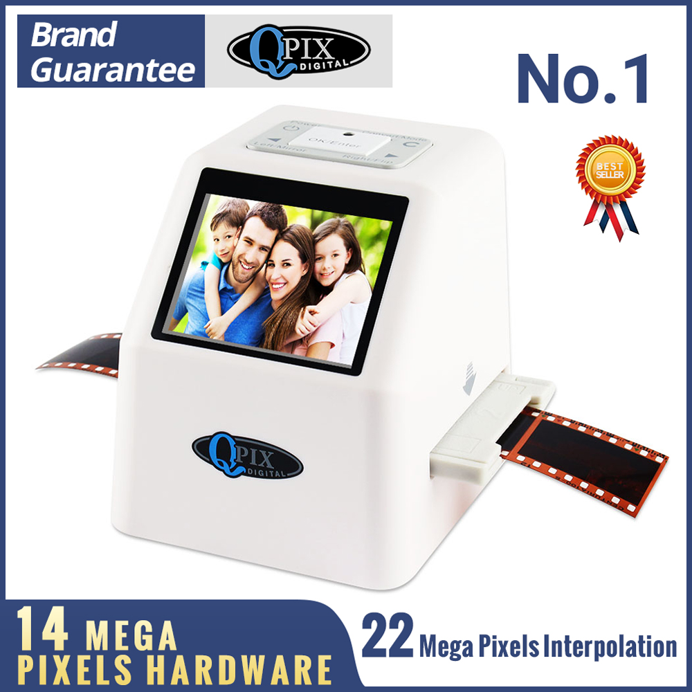 """ความละเอียดสูง 22 MP 35 มม.ฟิล์มสแกนเนอร์ 110 135 126KPK Super 8 ฟิล์มสไลด์ Photo Scanner ดิจิตอล converter 2.4 """"LCD-ใน เครื่องสแกน จาก คอมพิวเตอร์และออฟฟิศ บน QPIX DIGITAL Official Store"""