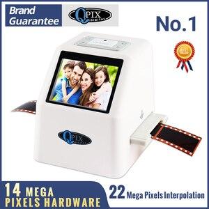 """Image 1 - High Resolution 22 MP 35mm Negative Film Scanner 110 135 126KPK Super 8 Slide Film Photo Scanner Digital Film Converter 2.4""""LCD"""