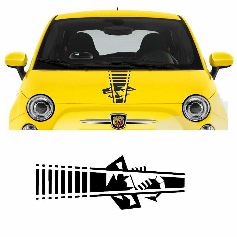 Autocollant en vinyle pour FIAT 500 595 696 ABARTH SCORPION BONNET, graphiques tu-88568