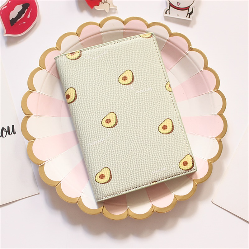2020 Fruit Summer Women Travel Business Passport Cover With Card Holder  ID And Air Ticket Holders  Passport Case For Documents