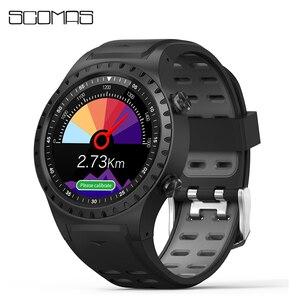 """Image 1 - SCOMAS GPS ساعة ذكية 1.3 """"جولة عرض دعم بلوتوث مكالمة هاتفية GPS البوصلة مراقب معدل ضربات القلب في الهواء الطلق الرياضة Smartwatch"""