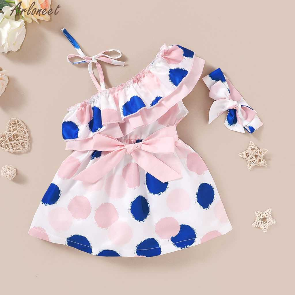 Floral Dress Match Headband Summer Sleeveless Sundress Infant Girl Clothes Toddler Kids Baby Girl Baby Boy Combed Cotton May 4th