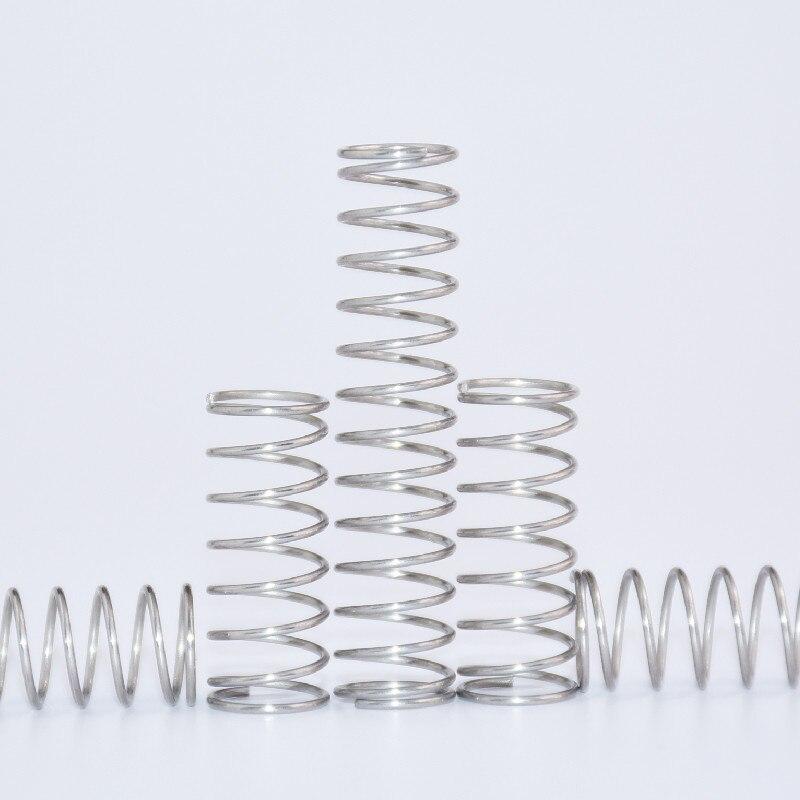 20 штук компрессионная пружинная проволока диаметр 0,5 мм наружный диаметр 4 мм Нержавеющаясталь микро маленькая Пружина сжатия Длина 5 мм-50 ...