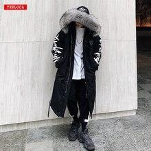 Coat Street-Wear Cotton Jacket Clothing Hoodies Long-Fur-Collar Warm Thick Winter Fashion