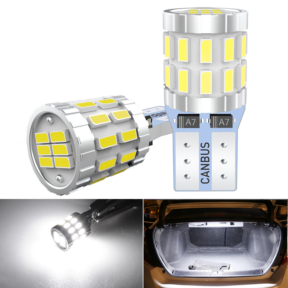 T10 canbus w5w canbus nenhum erro lâmpada led para skoda superb octavia 2 fl 2010 2011 2012 2013 led interior do carro cúpula luz tronco lâmpada