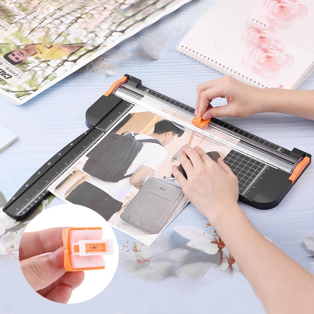 A4 A5 Paper Cutter Cutting Mat Machine Office Supplies Photo Label Art Painting Trimmer Scrap Booking Tools Ruler Hidden Blade