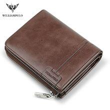 Мужской короткий кошелек williampolo модный винтажный бумажник
