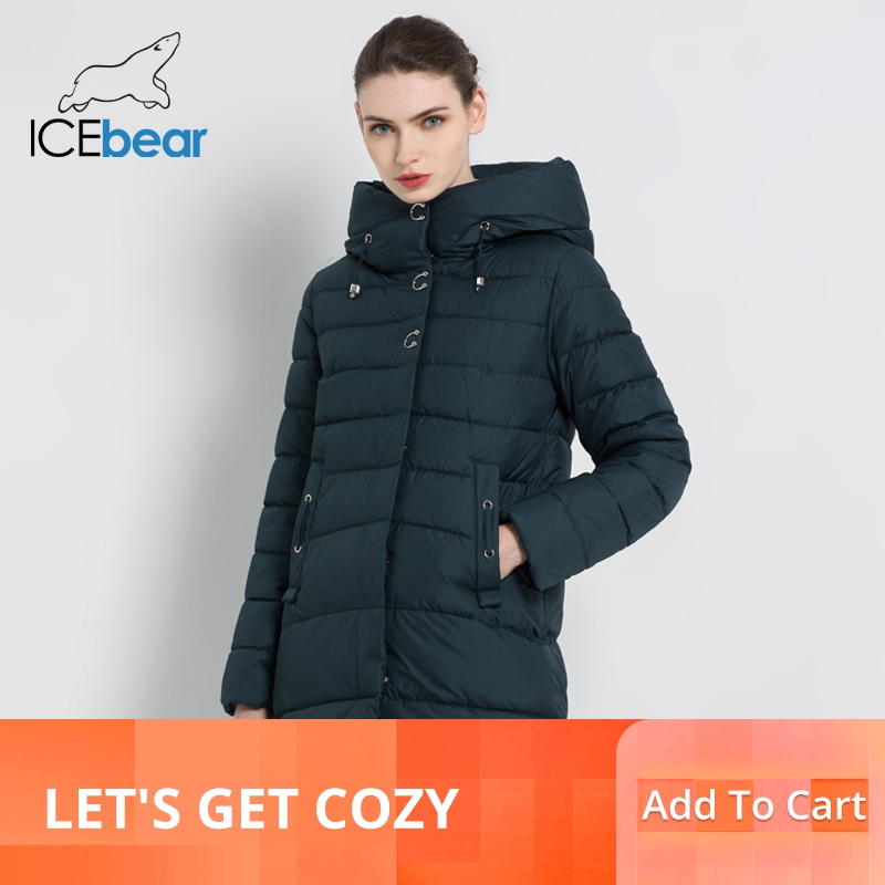 ICEbear 2019 Nuove Donne di Inverno Giubbotti di Alta Qualità Parka Cappotto casual Femminile Abbigliamento Donna Cappotti di Inverno Abbigliamento GWD18089I-in Parka da Abbigliamento da donna su  Gruppo 1