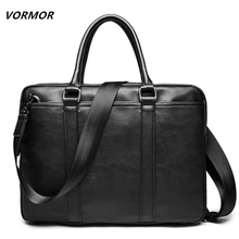 VORMOR 프로모션 단순한 유명 브랜드 비즈니스 남성 서류 가방 고급 가죽 노트북 가방 남자 숄더 백 bolsa maleta