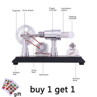 Double cylinder Micro DIY Stirling Engine External Combustion Engine School Demonstration Early Learning Education Toys For Kids
