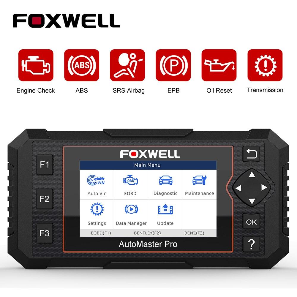 FOXWELL NT614 Elite OBD2 Scanner Motor Airbag ABS EPB Öl Reset EOBD OBD 2 Automotive Scanner Auto Diagnose Werkzeug Freies update