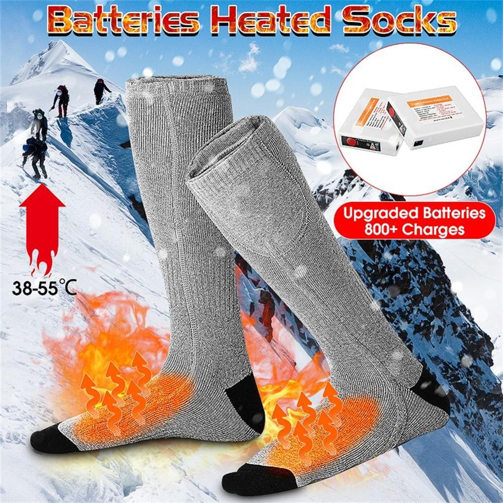 Outdoor Unisex Thermal Cotton Heated Socks Rechargeable Winter Foot Warmer Heater Snowboard Skiing Fishing Sport Electric Socks
