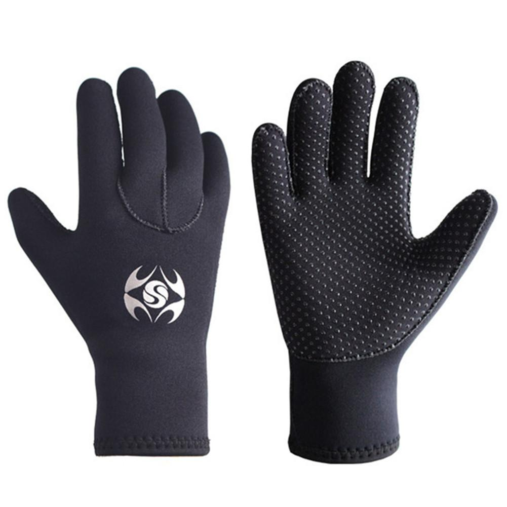 3mm Adult Men Women Warm Scuba Diving Gloves Windsurfing Surfing Spearfishing Snorkeling Boating Fishermen Cold-proof Gloves